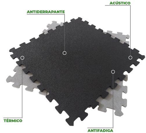Pavimento puzzle em PVC (Ginásio, oficina, garagem, fábrica, armazém)