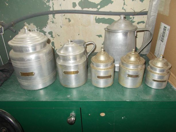Recipientes de cozinha vintage
