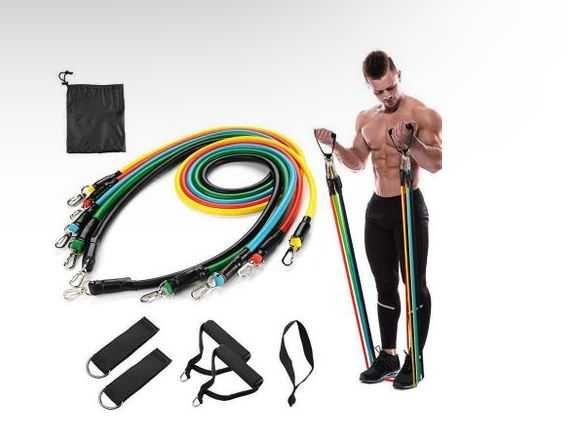 Набор трубчатых эспандеров Supretto для фитнеса,резинки для фитнеса