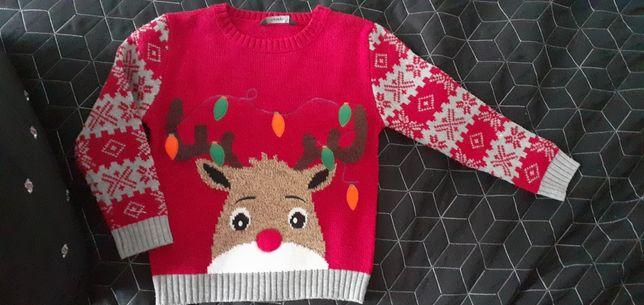 Sweter świąteczny 4/5lat 116