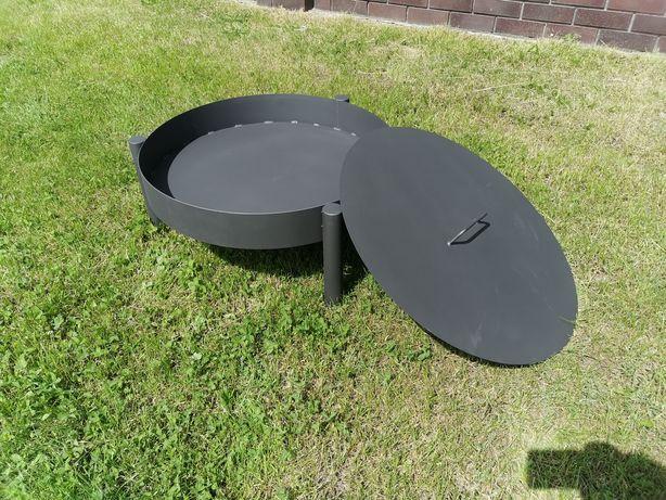 Palenisko ogrodowe okrągłe 70cm solidne grill pokrywa