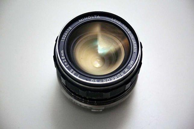 Объектив Minolta MC Rokkor-SG 28mm f/ 3.5