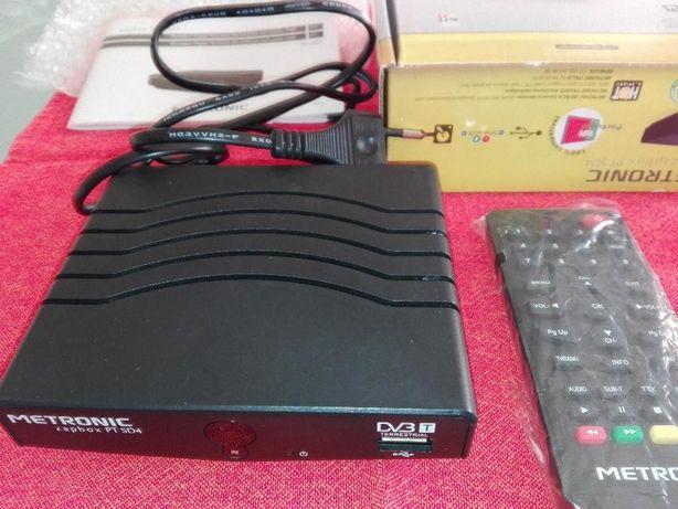 Metronic Descodificador TDT SD Zapbox pt sd4. Novo em caixa