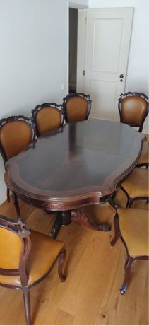 Conjunto mesa jantar (pé de galo)