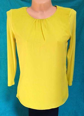 Nowa żółta koszulka bimaterial z rękawem 3/4 Orsay 36 S