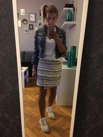 H&M spódniczka mini wełniana nowa L