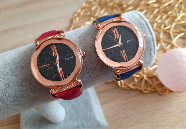 Zegarek damski brokatowa tarcza