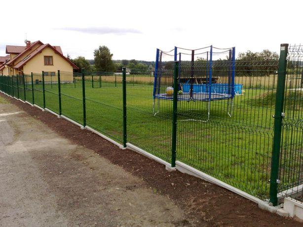 PROMOCJA ZIMOWA! ogrodzenie panelowe FI4, 123 cm, słupek, obejmy, śrub