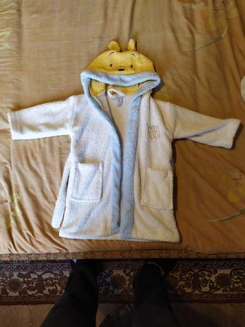 Детский банный халат размер 92-98