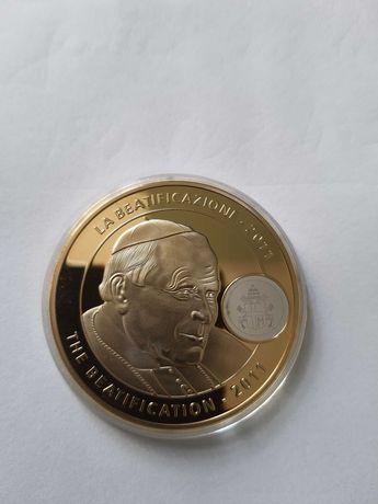 Medal Beatyfikacja Jana Pawła II 2011 rok w kapslu Karol Józef Wojtyła