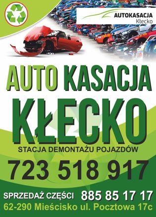 Autokasacja Kłecko skupuje auta ZA GOTÓWKĘ niezależnie od stanu techni