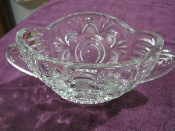 Хрустальная ваза ладья конфетница