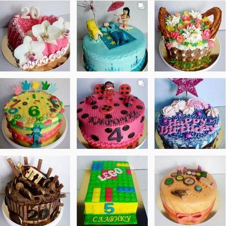 Торты и пирожные ручной работы на заказ.