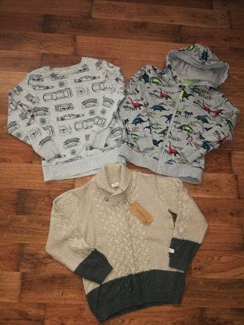 Bluzy 122 128 H&M sweterek newbie nowy zestaw bluz