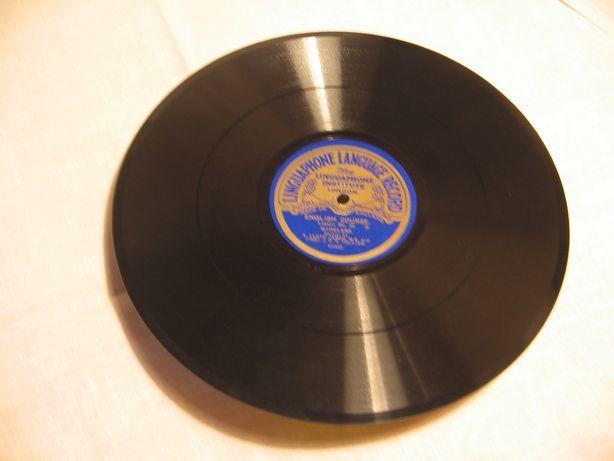Płyty gramofonowe na 78 obr.nauka języka angielskiego.