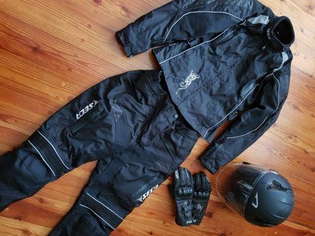 SECA komplet odzieży motocyklowej damski kurtka spodnie kask rękawice