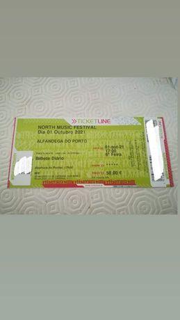 Bilhete north music festival _ 01/10/2021- 45€