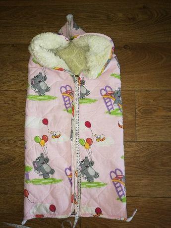 Детский конверт-одеяло на овчине