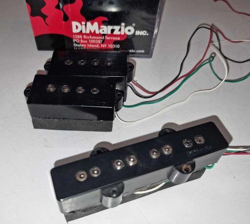 Pickup Baixo Elétrico P+J DiMarzio DP126 BK (DP122 BK P + DP123 BK J)