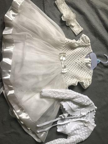 Sukienka na chrzest dla dziewczynki roz. 86