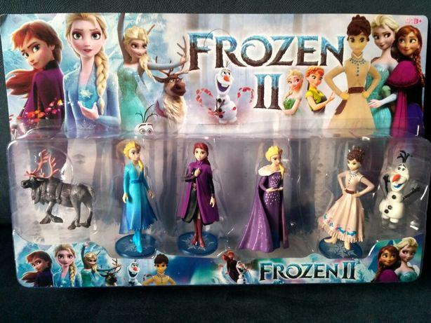 Frozen 2 figurki ELSA Anna Tort Kraina lodu 6 sztuk