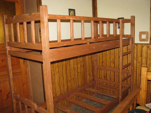 Кровать Двухъярусная (натуральное дерево)