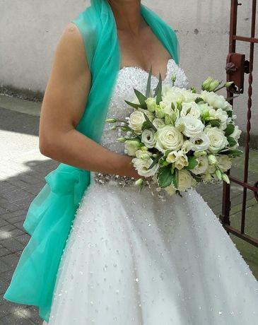 Sprzedam suknię ślubną , bardzo ładna , rozmiar S