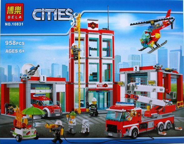Zestaw klocków jakości lego City remiza strażacka