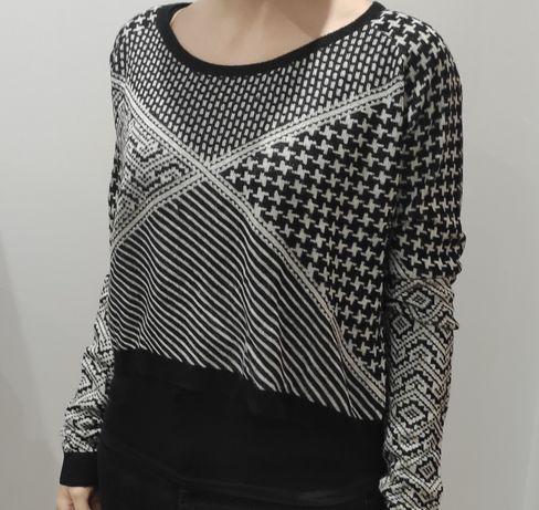 Malha black&white padrões geométricos