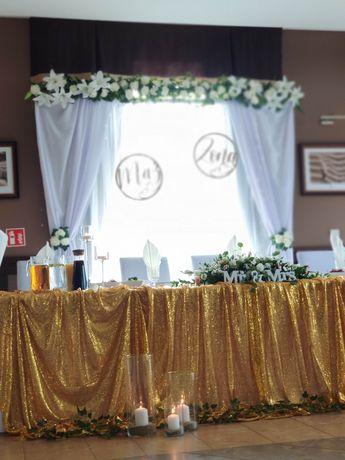 Wynajem Ścianki ozdób wesele ślub dekoracje do kościoła kościół sala