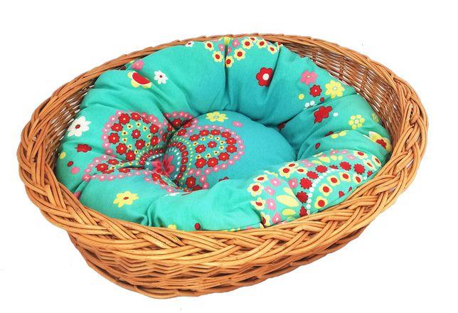 """Zestaw legowisko """"zwykłe"""" 50 cm + poduszka kolorowa"""