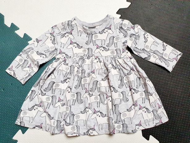 Sukienka F&F w jednorożce r. 80