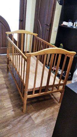 Дитяче дерев'яне ліжко колиска бу
