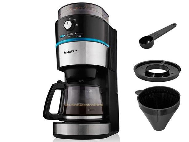 Nowy - Ekspres do kawy – przelewowy z młynkiem - Silvercrest SKML 100