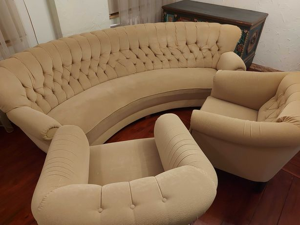 Fotel sofa kanapa na sprężynach po renowacji