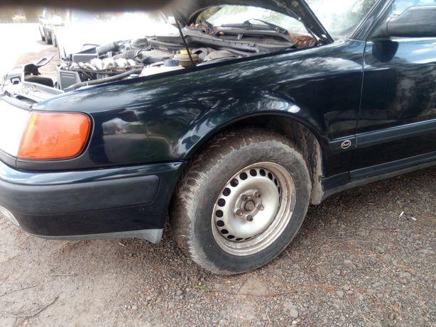 Audi 100 C4 - Błotnik przód przedni lewy w kolorze LZ5U