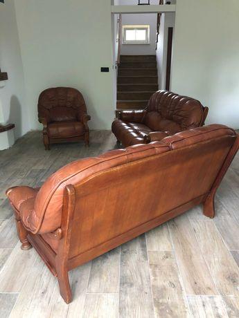 zestaw: 2 kanapy + fotel