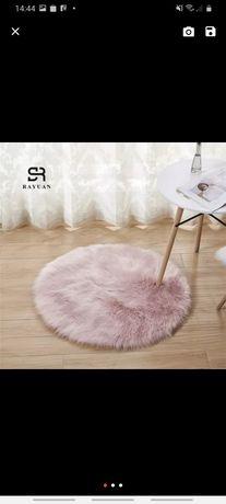 Okrągły dywan różowy milutki