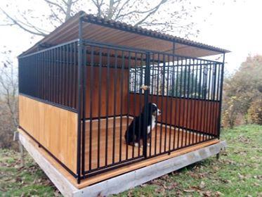 przestronny kojec dla psa, box, buda ocieplana, wiata i inne