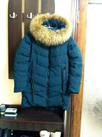 Теплый зимний пуховик, куртка 46-48