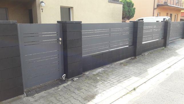 Ogrodzenia łupane gładkie betonowe stalowe sprzedaż i montaż