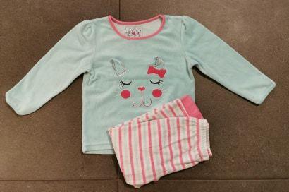 Welurowa piżama na długi rękaw Primark, rozmiar 110