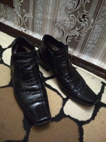 Ботинки кожаные зимние 45р