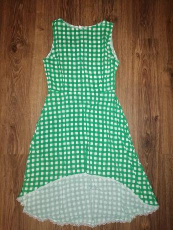 Женское летнее платье в клеточку