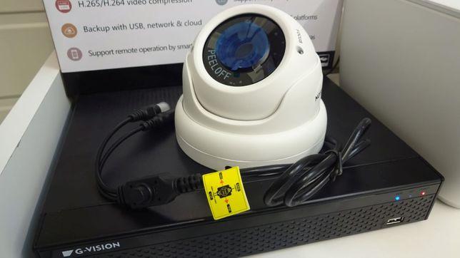 Zestaw 2 kamer FullHD do monitoringu z rejestratorem oraz dyskiem