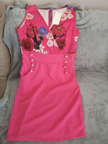 Nowa sukienka fuksja
