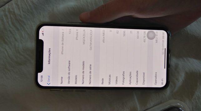 Iphone X + capas novas