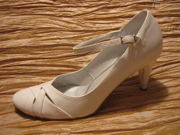buty ślubne wizytowe ekri 38