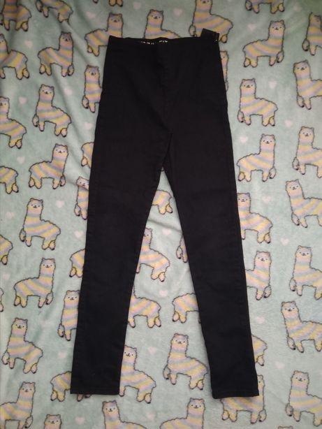 Spodnie 146 rurki skiny fit dla dziewczynki czarne 10lat