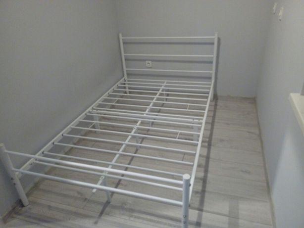 Rama łóżka stalowa pod materac 120x200 biała mocna nowa